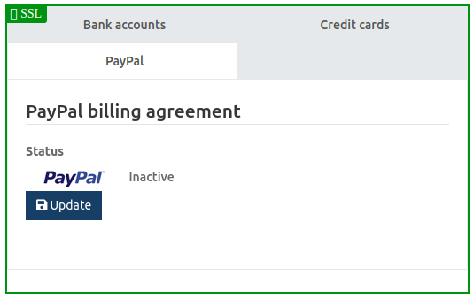 Payment methods bank account